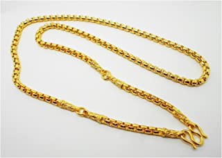 Chain 3 Hoops 23K 24K THAI BAHT GOLD GP NECKLACE 27