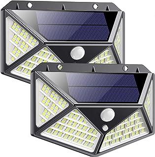 comprar comparacion Luz Solar Exterior 162 LED, QTshine【2020 Última versión】Foco Solar con Sensor de Movimiento Gran Angular de Iluminación 27...