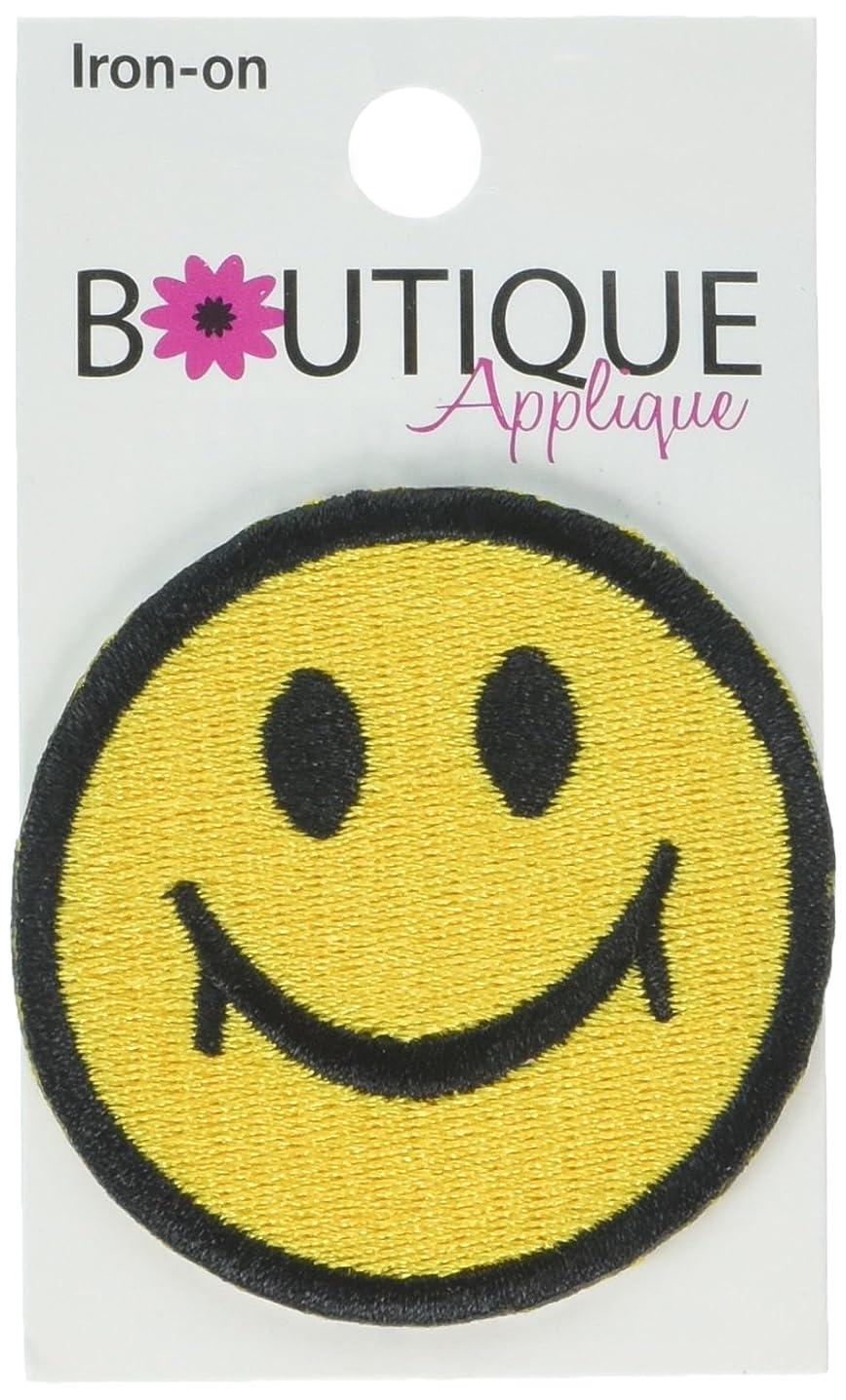 Blumenthal Lansing Iron-On Appliques-Happy Face 1/Pkg