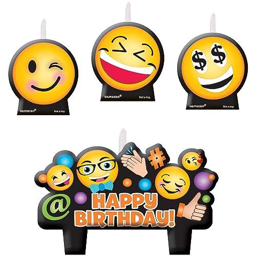Amscan LOL Emojis Candle Sets 4 Ct