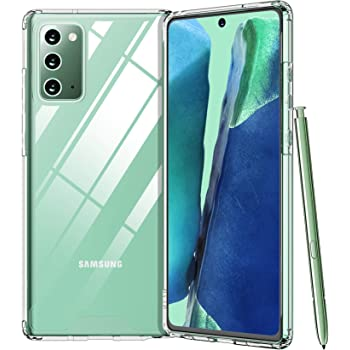 Temdan for Samsung Galaxy Note 20 Case, with Premium Clear Soft TPU + Hard PC Ultra-Clear Anti-Scratch Anti-Yellow Case for Galaxy Note 20 6.7 inch 2020 (Clear)