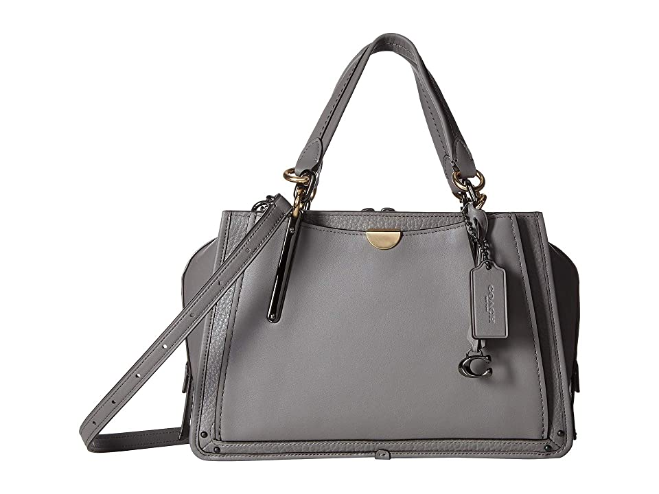COACH Dreamer in Mixed Leather (Dk/Heather Grey) Handbags