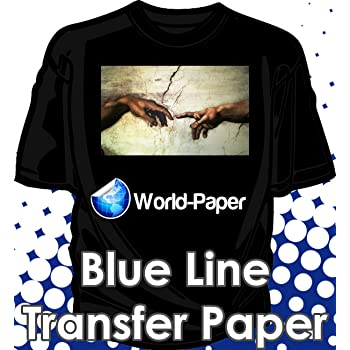 Blue Grid Dark Iron On Heat Transfer Paper for Inkjet 8.5 X 11-25 Sheets