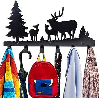 Coat Hooks Wall Mounted, Kathy Metal Towel Hook Rack Moon Cloud Animal Deer Hanger for Bathrooms Door Hanging Key Robe Bag...