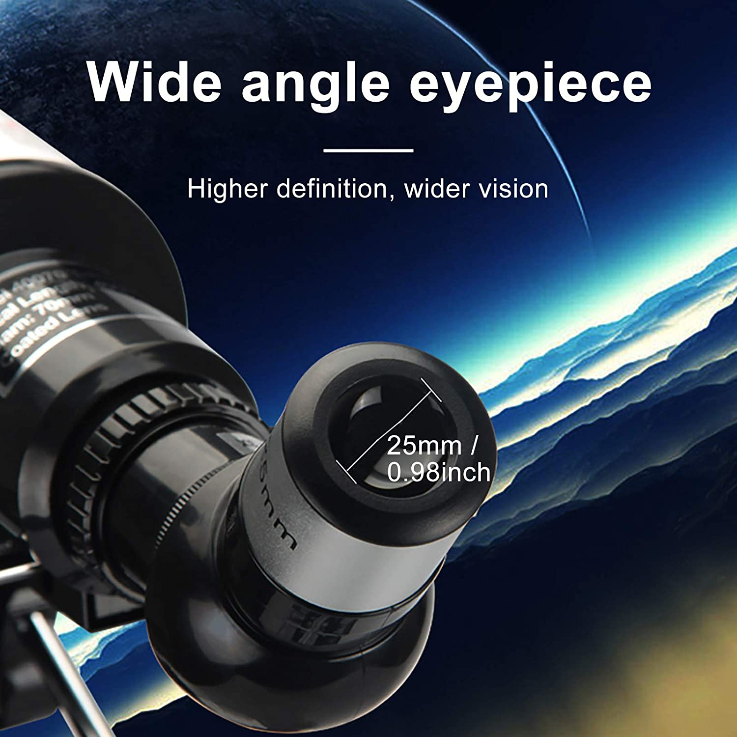 f//5.7 Focal Length 70mm Aperture Astronomical Telescope with Adjustable Tripod,Portable HD Monoculars for Adults Beginners and Children,High Magnification High Definition Night Vision,400mm