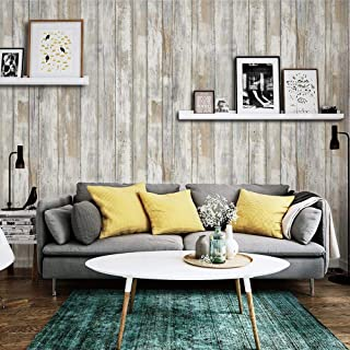 Faux Wood Brown Contact Paper Self-Adhesive Waterproof 17.8 X 78.8'' Removable Decorative Vinyl Film 3 D Peel and Stick Wallpaper D I Y for Bedroom Kitchen Furniture Retro Style