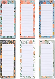 Grocery List Magnet Pad for Fridge, 6-Pack Magnetic Note Pads Lists, 60 Sheets Per Pad, 6 Cute Fruits Designs, Full Magnet...