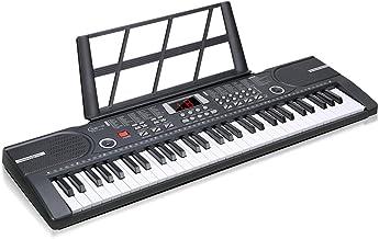 Hricane 電子キーボード 61鍵盤 LCDディスプレイ搭載 多機能 高音質 電子 キーボード 楽器 ヘッドフォン対応 CE認証取得済 初心者 子供 練習 USBケーブル付き (ブラック)