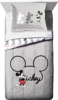 Jay Franco Disney Mickey Mouse Jersey Twin/Full Comforter - Super Soft Kids Reversible Bedding Features Mickey Mouse - Fade Resistant Polyester Includes 1 Bonus Sham (Official Disney Product)