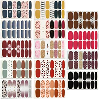 14 Sheets Full Wraps Nail Polish Stickers,Self-Adhesive Nail Art Decals Strips Manicure..