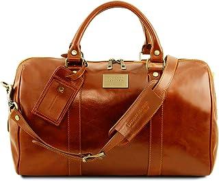 Tuscany Leather TL Voyager Borsa da viaggio in pelle con tasca sul retro - Misura piccola Miele