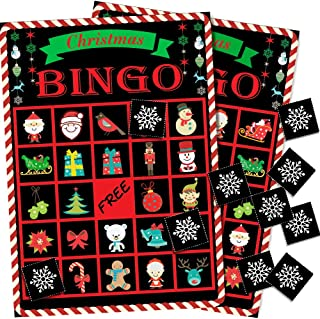 Holiday Christmas Bingo Game for Kids - 24 Players