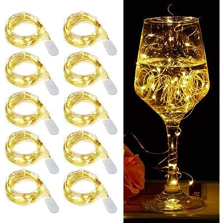 LIIDA【10個セット】LEDイルミネーションライト, シルバーライン, クリスマスやパーティ、結婚式などの,装飾に使用すれば