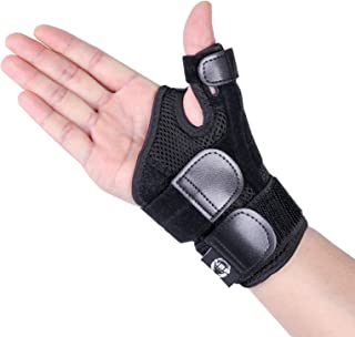 Arthritis Thumb Splint with Hand Spica Brace–Soft Trigger Thumb Stabilizer for Sprains, Tendonitis Pain Relief, Carpal Tunnel, Strains Thumb Immobilizer Fits Left or Right Wrist