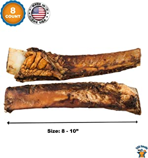 123 Treats - Meaty Dog Bones - 100% Natural Pork & Beef Chews for Dogs | Made in USA & Brazil from Grass Fed Cattle