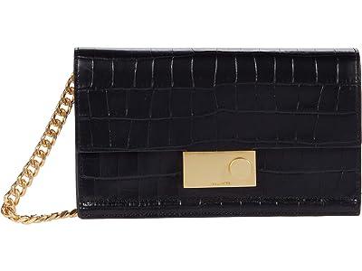 AllSaints Hercules Croc Wallet (Black) Handbags