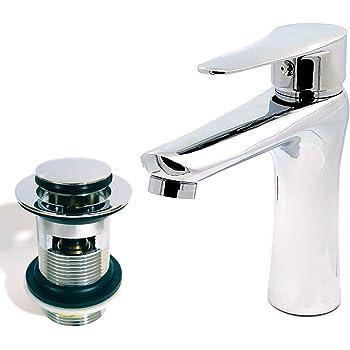 Basin Sink Mixer TapWaterfall Bathroom Cloakroom Sink Faucet /& FREE WASTE