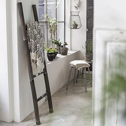 Elegant Tikamoon Echelle Porte Serviette De Salle De Bain   Bambou   Noir   40 X 5