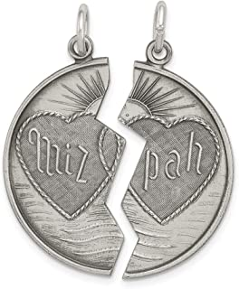 Beautiful Sterling silver 925 sterling Sterling Silver Antiqued Mizpah Charm