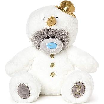 Me To You Tatty Teddy D/écoration de Sapin de No/ël Bonhomme de Neige Blanc 10 cm