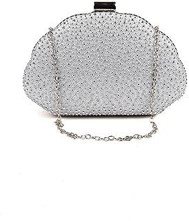 Odette Silver Droplet Rhinestone elegant clutch