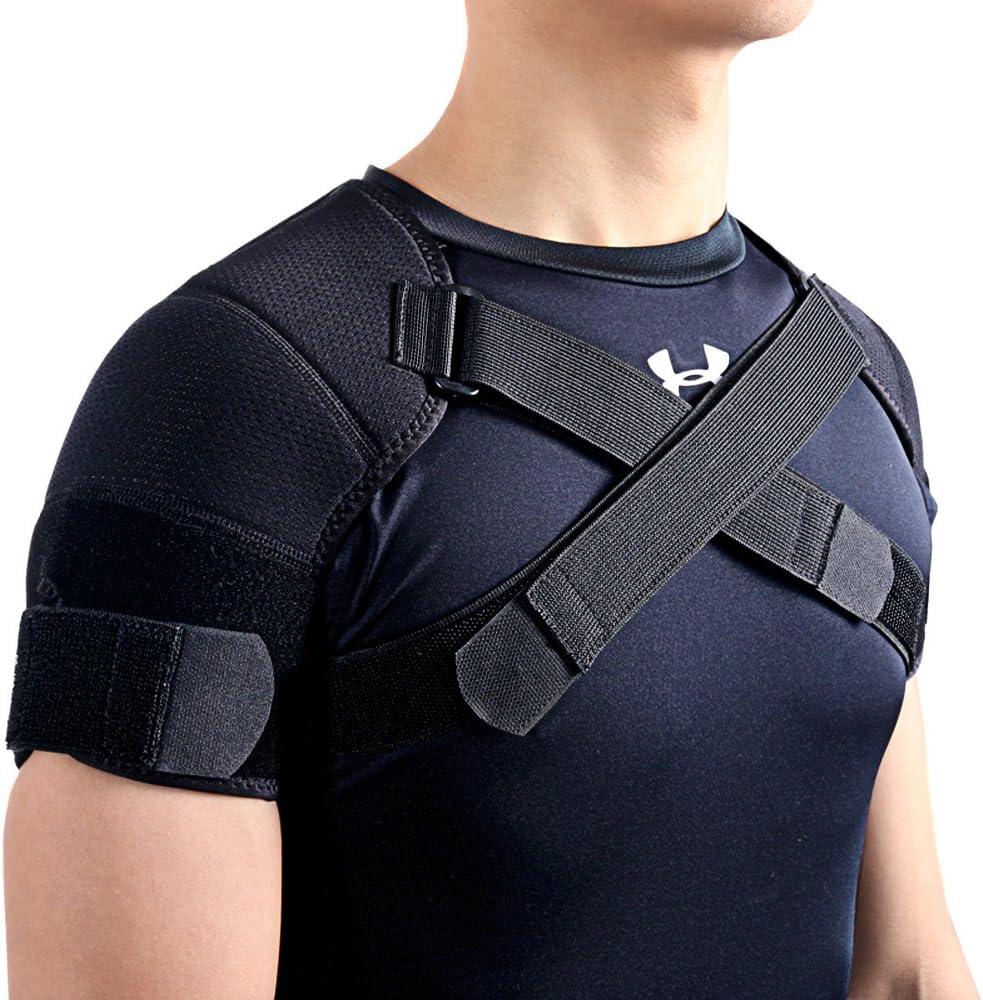 Kuangmi Soporte para hombros de ajuste doble en color negro, 1 pieza, L