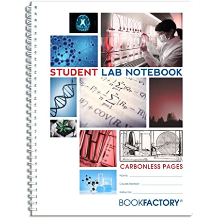 Amazon Com Bookfactory Carbonless Student Lab Notebook 50 Sets Of Pages 8 5 X 11 Duplicator Scientific Grid Pages Durable Translucent Cover Wire O Binding Lab 050 7gw D Student Science Laboratory Notebooks