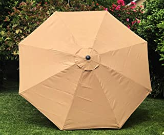 BELLRINO DECOR Replacement Sand Strong & Thick Umbrella Canopy for 10ft 8 Ribs Sand (Canopy Only)