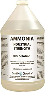Clear Ammonia - Industrial Strength - Ammonium Hydroxide - 21% concentration.-1 gallon (128 oz.)