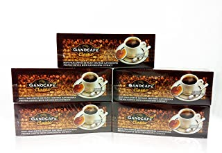 5 Boxes Gano Excel Ganocafe Classic Ganoderma Healthy Coffee 150 Sachets