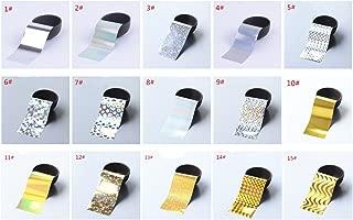 XICHEN®Starry Sky Stars Nail Art Stickers Tips Wraps Foil Transfer Adhesive Glitters Acrylic DIY Decoration (16PCS 16 Colors) (30PCS 30 Colors)(4cm*120cm) … Multi-Colored (4cm*120cm 16PCS)