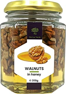 Walnuts in fresh acacia honey 100% natural - 7 Oz - European Sourced
