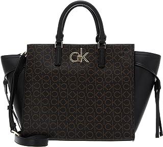 Calvin Klein Tote Handbag Brown Mono