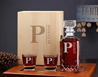 Personalized Diamond Sharp Decanter, Groomsmen Unique Gift, Personalized Decanter for Groomsman