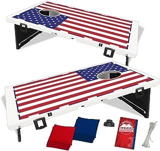 Baggo USA American US Flag Bean Bag Toss Portable Cornhole Tailgate Game with