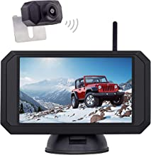 1080P Backup Camera and 5 inch Monitor Kit Digital Wireless Rear View Camera for Car SUV Truck RV Built-in Transmitter wit... photo