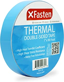 XFasten Thermal Double-Sided Adhesive Tape, 1 Inch x 90 Feet, High Thermal Conductivity and Electrical Insulating Thermal ...