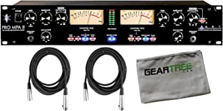 ART Pro MPA II 2 Channel Tube Mic Preamp w/Geartree Cloth and 2 XLR Cables