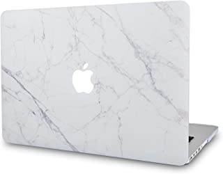 LuvCase Rubberized Plastic Hard Shell Case Cover Compatible MacBook Air 13 Inch A1466 & A1369, NOT Compatible 2019/2018 New Version A1932 with Touch ID (Ice Marble)