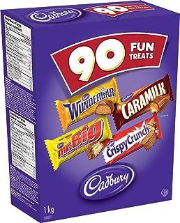 Cadbury Fun Treats Chocolate, 90 Count - Wunderbar, Mr. Big, Caramilk, Crispy Crunch {Imported from Canada}