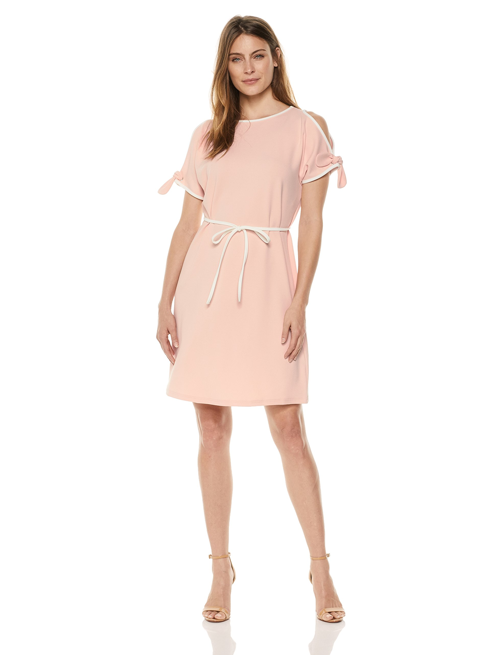 Available at Amazon: Sharagano Women's Cold Shoulder Belted Dress