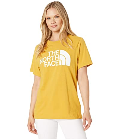 The North Face Short Sleeve Half Dome T-Shirt (Golden Spice/TNF White) Women