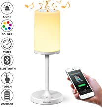 Marrado Bedside Lamp with Bluetooth Speaker   Color Changing LED Mood Light   Dimmable Touch Smart Table Lamp for Bedroom   Best Gift for Teenage College Teens Children Kids Men Women Adults