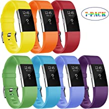 Fundro Replacement Bands Compatible with Fitbit Charge 2, Classic & Special Edition Adjustable Sport Wristbands (#B 7-Pack, Small)