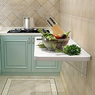 Folding table Table Pliante Murale Rabattable, Table Murale Rabattable Blanche, Table À Manger Murale pour La Cuisine À Do...