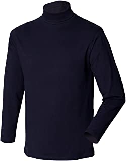 Henbury Mens Long Sleeve Cotton Rich Roll Neck Top/Sweatshirt