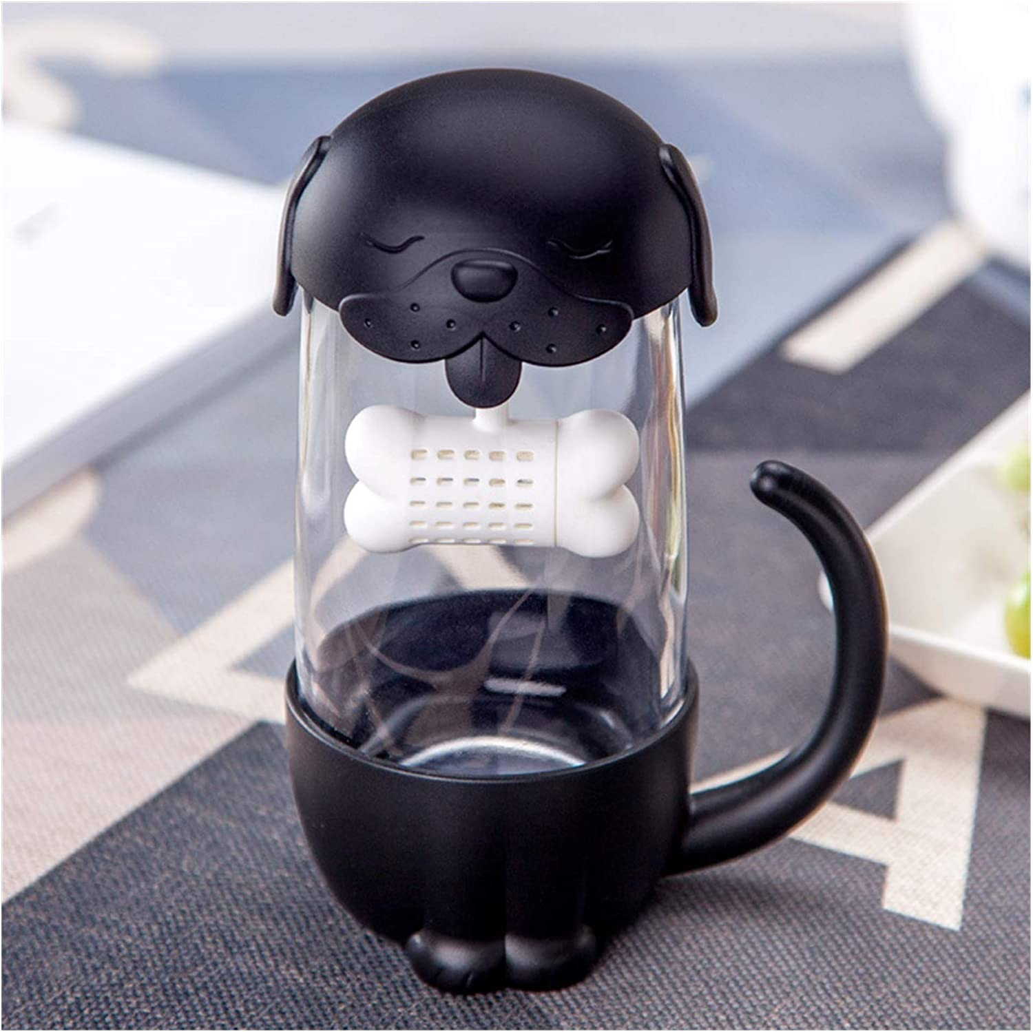 Water cup 280ml Cute Cat and Dog Fish Tea Max 51% OFF Infuse With Glass All items in the store Mugs