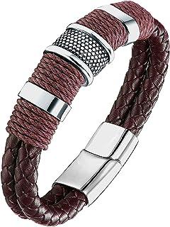 1b8c349d3abe1 Amazon.in: Leather - Bracelets & Kadas / Men: Jewellery
