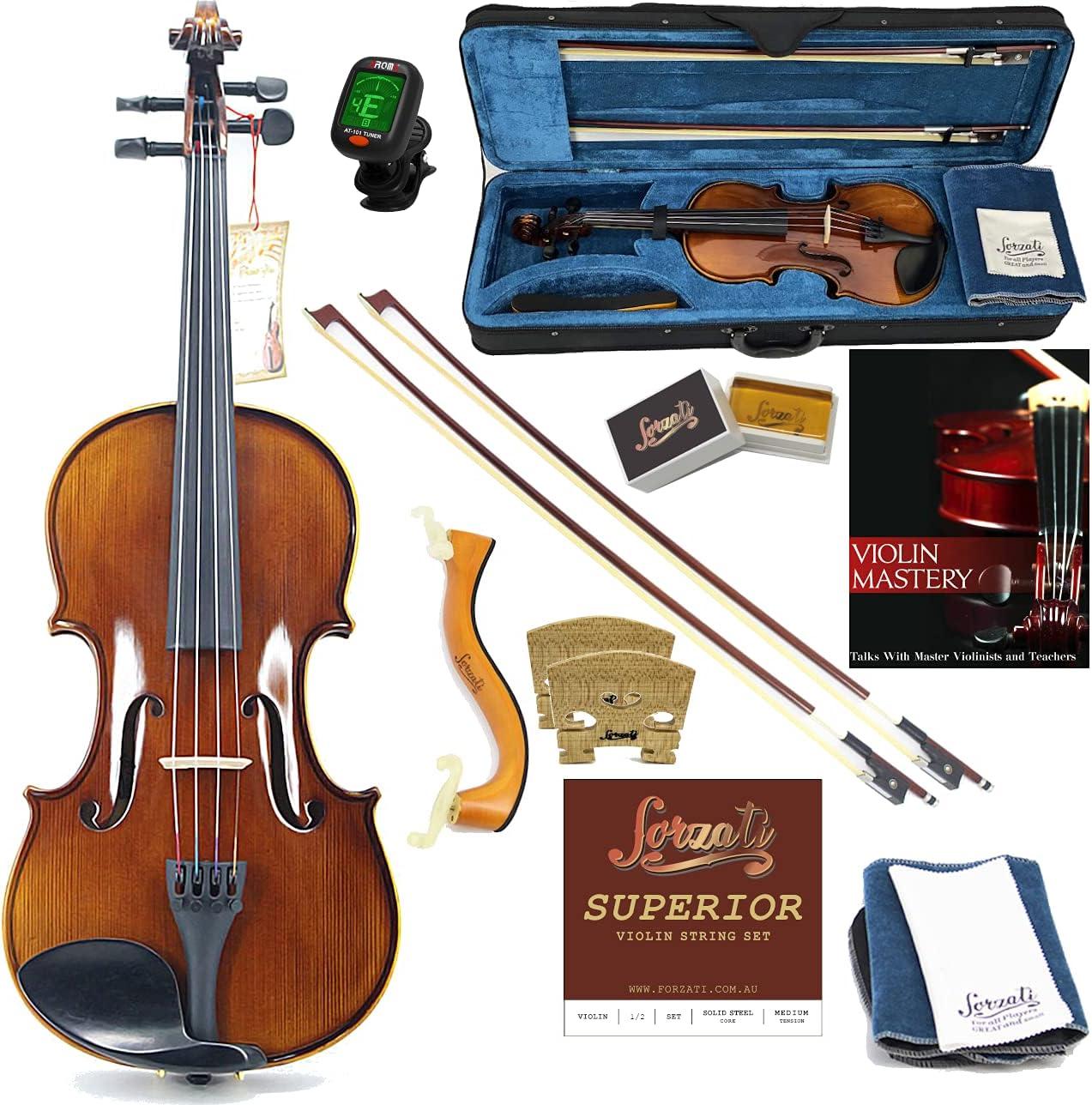 Forzati Max 82% OFF FZV600 Finally resale start 1 2 Half Size Set Vi Violin Handcrafted Superior