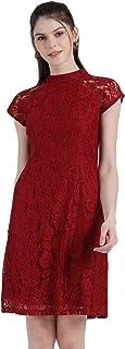 Zink London Women's Self Design Sheath Dress